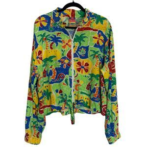 Vintage 90s Too Hot Sunwear Jacket Tropical